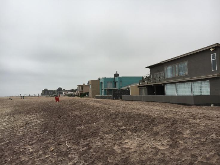 Huizen strand Swakop