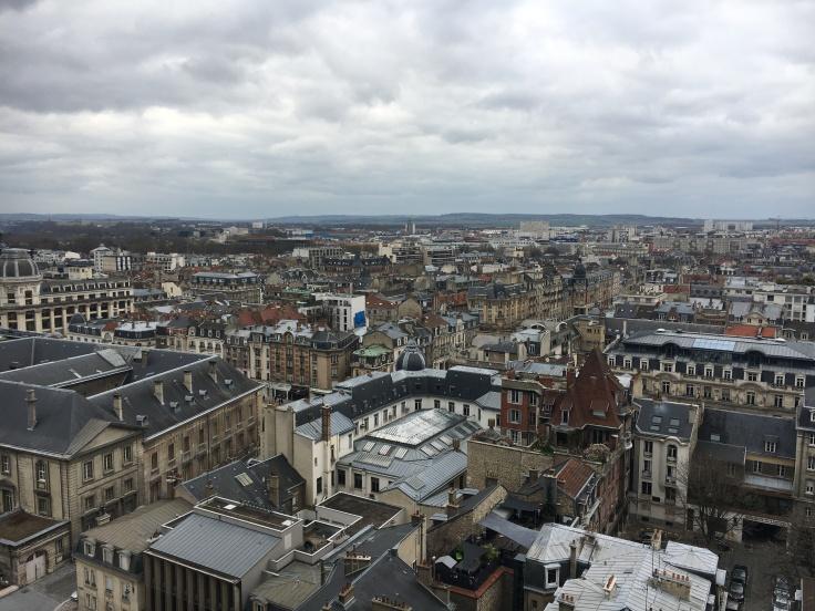 uitzicht over Reims van op de Kathedraal