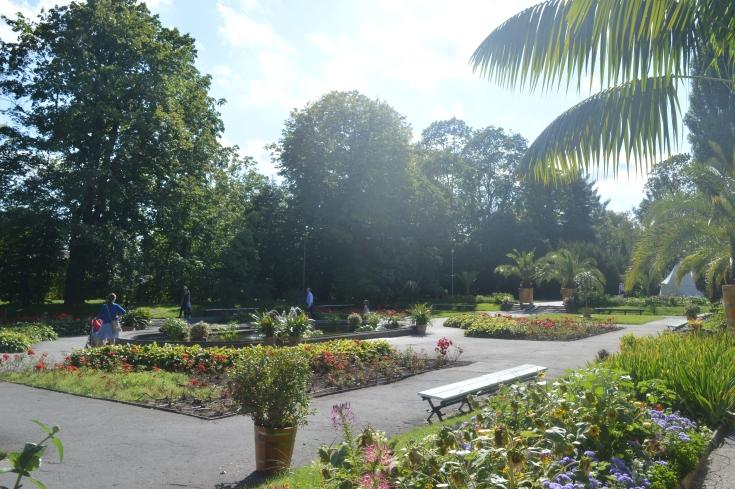 de tuinen van het Wilanow paleis